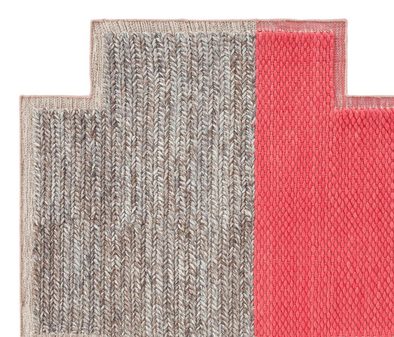 Mangas Space Rug Plait Square Coral 6 de GAN | Tapis / Tapis design