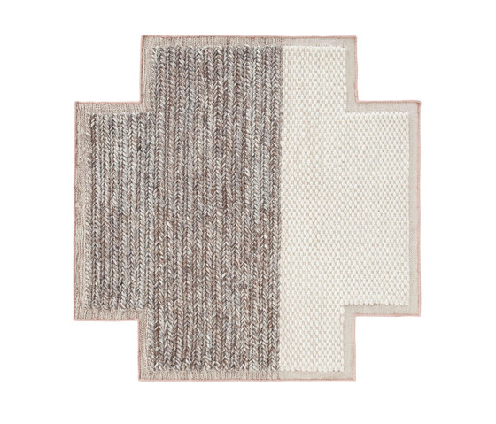 Mangas Space Rug Plait Square Ivory 8 by GAN | Rugs / Designer rugs