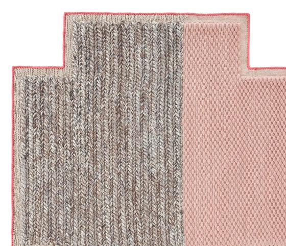 Mangas Space Rug Plait Square Pink 7 by GAN | Rugs