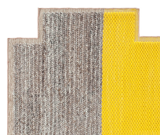 Mangas Space Rug Plait Square Yellow 5 by GAN | Rugs / Designer rugs