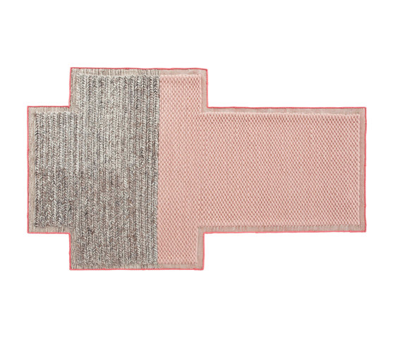 Mangas Space Rug Big Rectangular Pink Plait by GAN | Rugs / Designer rugs