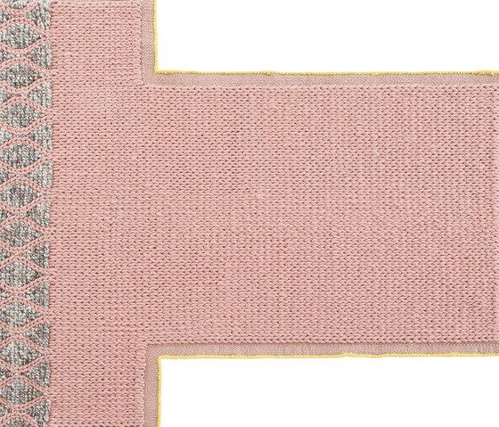 Mangas Space Rug Rhombus Pink 3 by GAN | Rugs / Designer rugs