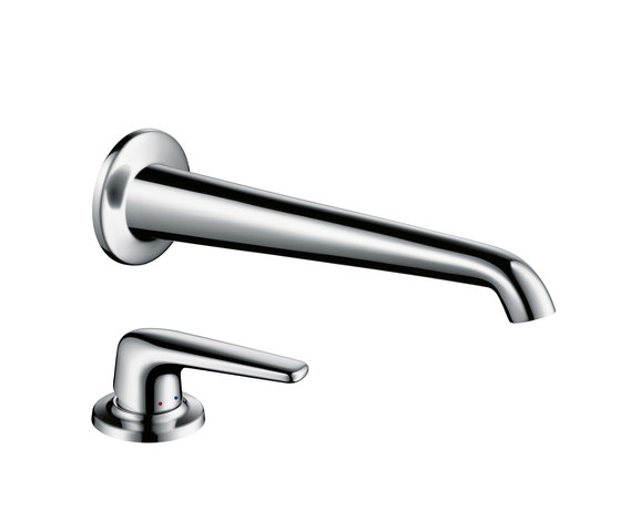 AXOR Bouroullec single lever basin mixer with wall spout 245 mm for concealed installation and handle by AXOR | Wash-basin taps
