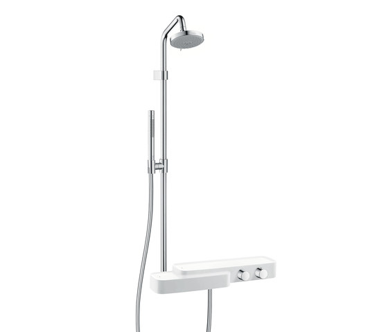 AXOR Bouroullec showerpipe with thermostatic mixer DN15 by AXOR | Shower taps / mixers