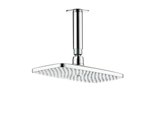 AXOR Bouroullec Raindance E 240 Air 1jet overhead shower DN15 with 100mm ceiling connector by AXOR | Shower taps / mixers