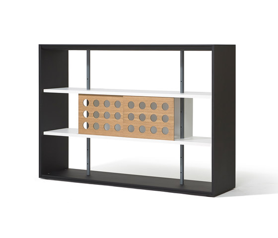 Frame shelving system by Richard Lampert | Office shelving systems