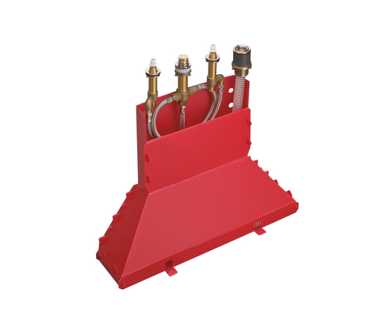 AXOR Carlton basic set for 4-hole rim-mounted bath mixer DN15 by AXOR