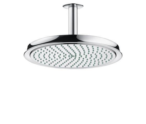 AXOR Carlton Raindance Classic Air plate overhead shower Ø 240mm DN15 with ceiling connector 100mm by AXOR | Shower controls