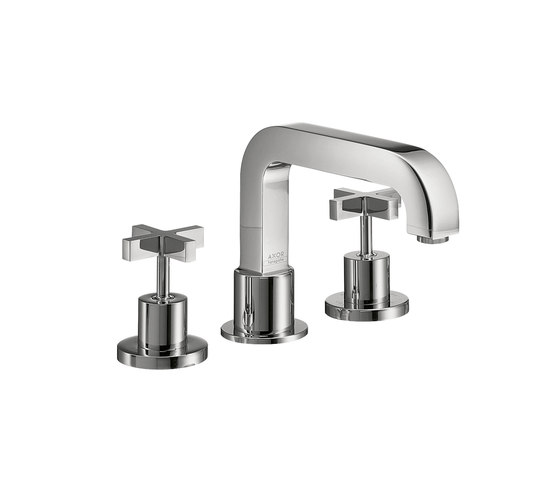 AXOR Citterio 3-Hole Rim-Mounted Bath Mixer with cross handles DN15 by AXOR | Bath taps