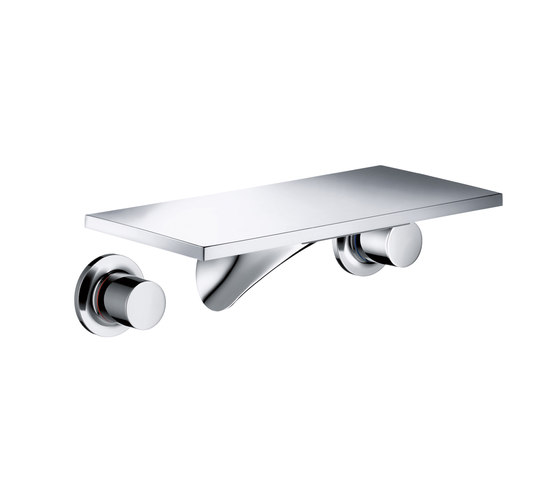 AXOR Massaud 3-Hole Basin Mixer for concealed installation wall mounting with spout 170 mm DN15 by AXOR | Wash basin taps