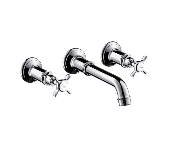 AXOR Montreux 3-Hole Basin Mixer for concealed installation DN15 by AXOR | Wash basin taps