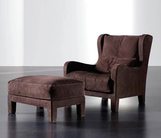Forrest Soft Easy Chair and Ottoman by Meridiani | Lounge chairs