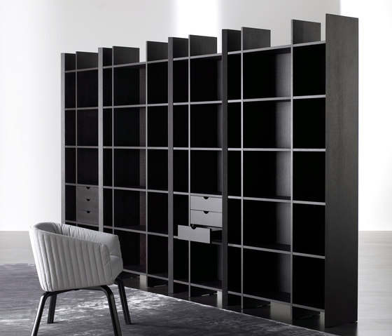 Harris Bookcase by Meridiani | Shelving systems