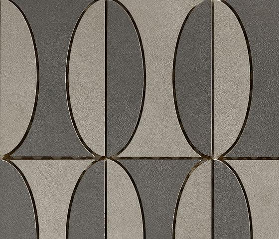 Industrial Decoro B - Plomb Steel di Floor Gres by Florim   Mosaici