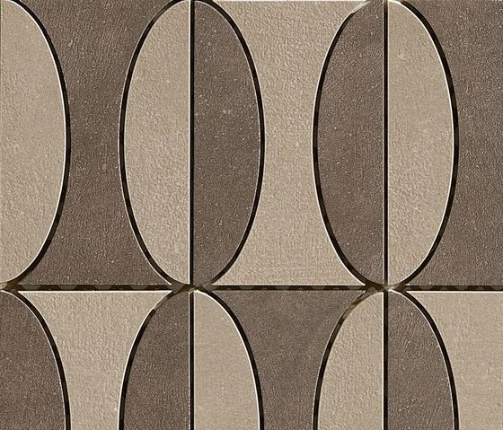 Industrial Decoro B - Moka|Taube di Floor Gres by Florim | Mosaici
