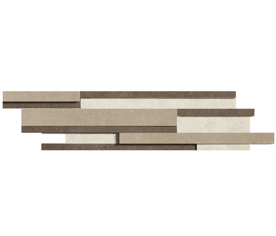 Industrial Decoro - Moka|Taupe|Ivory de FLORIM | Mosaicos de cerámica
