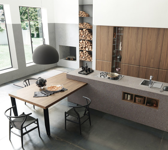 Emejing Cucine Con Isola E Tavolo Photos - Skilifts.us - skilifts.us