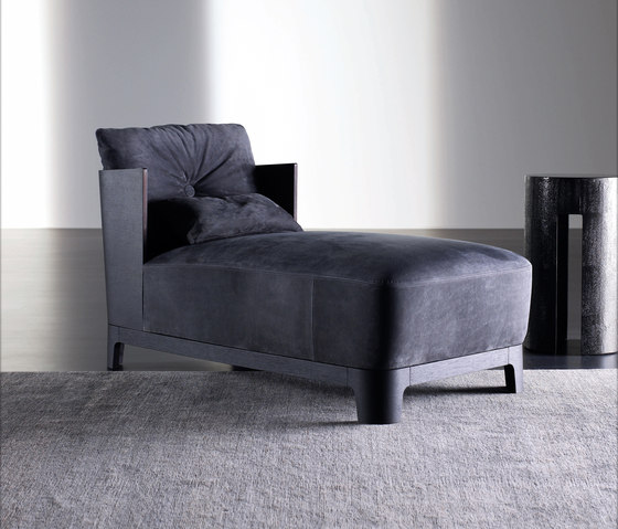 Keeton Chaise longue WOOD by Meridiani | Chaise longues