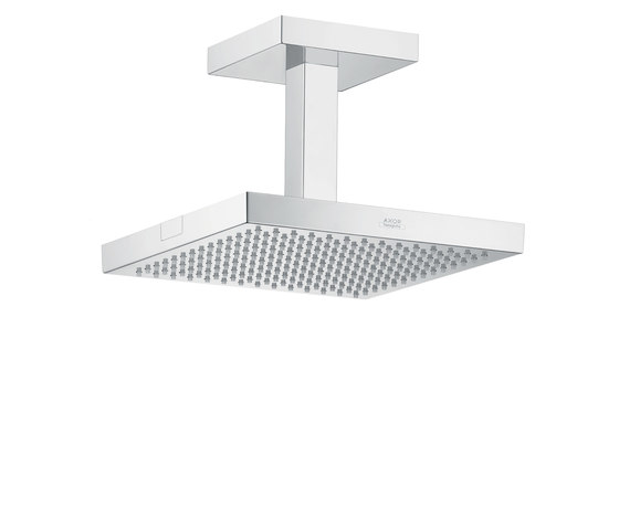 AXOR Starck Organic Overhead Shower 24 x 24 DN15 with ceiling connection by AXOR | Shower taps / mixers