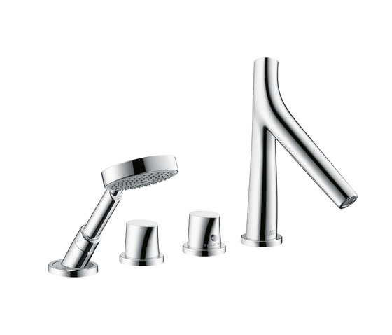 AXOR Starck Organic 4-Hole Tile-Mounted Thermostatic Bath Mixer DN15 by AXOR | Bath taps