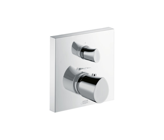 AXOR Starck Organic Thermostatic Mixer for concealed installation with shut-off|diverter valve by AXOR | Shower controls