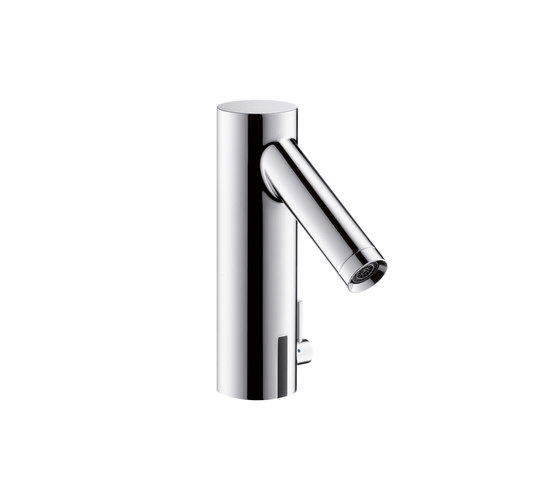 AXOR Starck Electronic Basin Mixer with temperature control DN15 battery-operated by AXOR | Wash basin taps