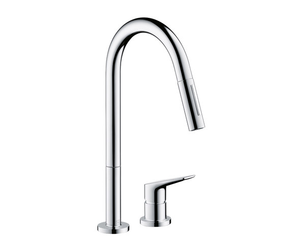 AXOR Citterio M 2-Hole Kitchen Mixer with pull-out spray DN15 by AXOR | Kitchen taps