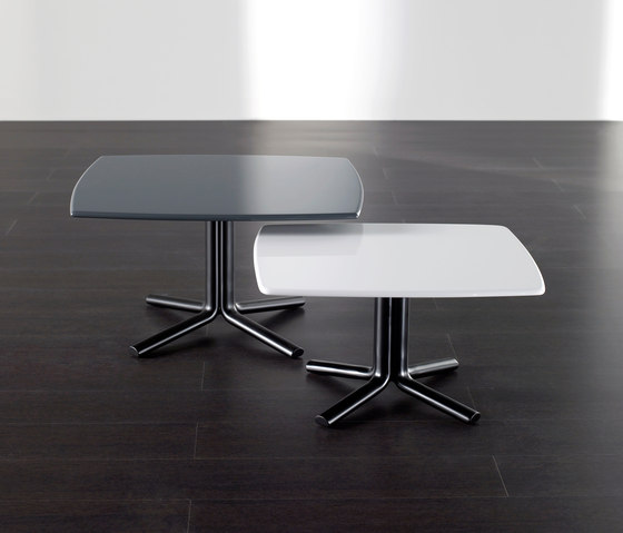 Nestor Black Marble Square Coffee Table On A Metal Base: Miller By Meridiani