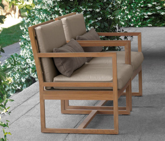 Square Chair by Meridiani | Garden chairs