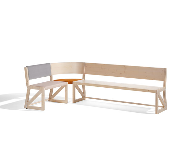 Stijl cornerbench de Lampert | Bancs