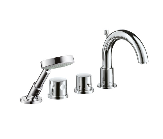 AXOR Uno 4-Hole Thermostatic Rim-Mounted Bath Mixer DN15 by AXOR | Bath taps