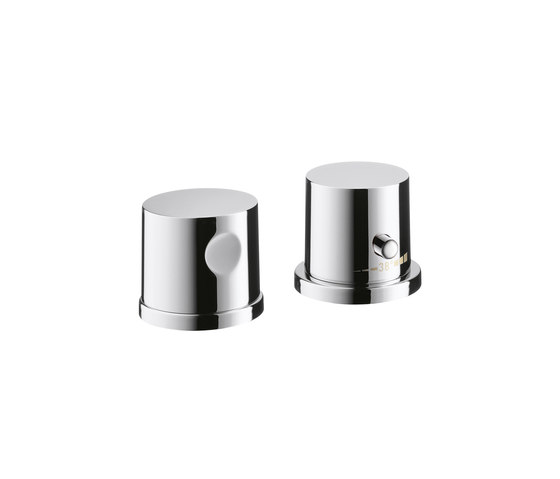 AXOR Uno 2-Hole Thermostatic Rim-Mounted Bath Mixer DN15 by AXOR | Bath taps