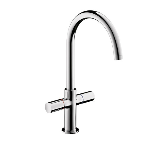 AXOR Uno 2-Handle Basin Mixer with high swivel spout without pull-rod DN15 by AXOR | Wash-basin taps