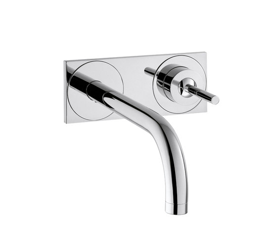 AXOR Uno Single Lever Basin Mixer for concealed installation with plate and spout 165 mm wall mounting DN15 by AXOR | Wash-basin taps