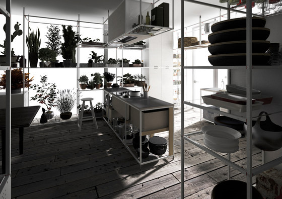 Meccanica 4 by Valcucine | Island kitchens