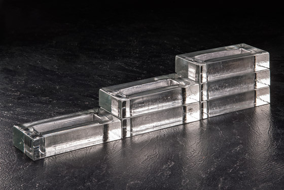 Monoforo silver by Poesia | Decorative glass