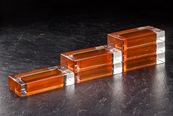 Monoforo orange by Poesia | Decorative glass