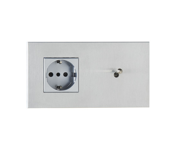 Sydney special coating by Luxonov | Switches with integrated sockets (Schuko)