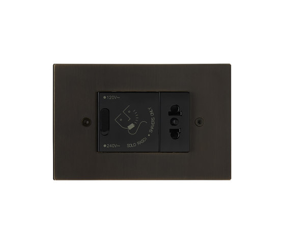 Paris special coating by Luxonov | Switches with integrated sockets (Schuko)