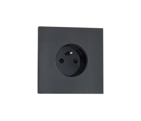 Siam BR bronze by Luxonov | Schuko sockets