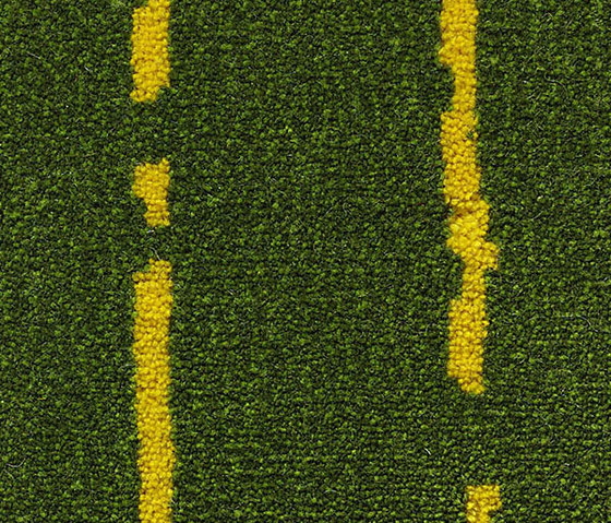 Pinestripe Green-Yellow 34 by Kasthall | Carpet rolls / Wall-to-wall carpets