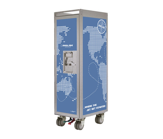 bordbar Pan Am edition worldmap solid von bordbar | Service Trolleys / Tische