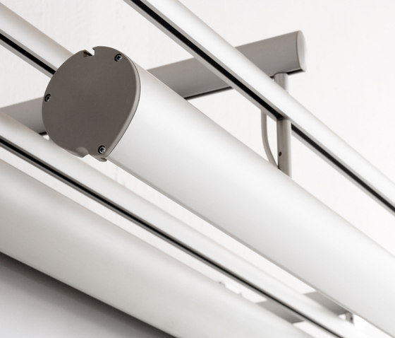 Ellipse Rail System by Lintex   Projection screens