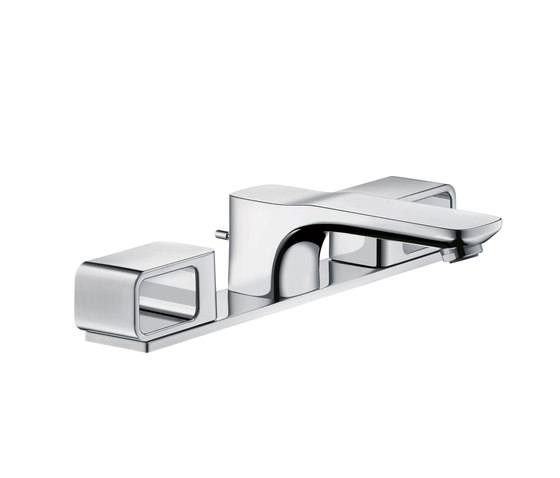 AXOR Urquiola 3-Hole Basin Mixer DN15 with plate by AXOR | Wash basin taps