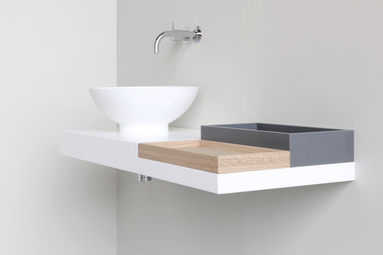 Basq boxes by Not Only White B.V. | Shelves