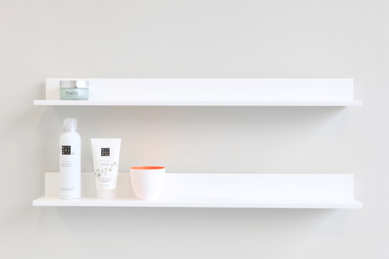 Stripp L- shelf by Not Only White B.V. | Bath shelving