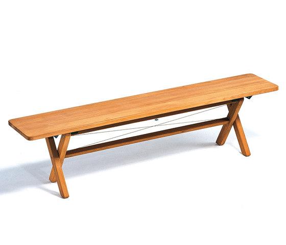 Cross Bench 180 by Weishäupl | Garden benches