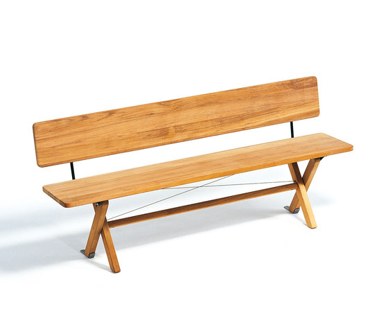 Cross Bench 180 by Weishäupl | Garden benches