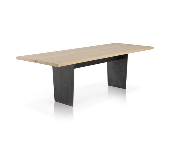 Slats Rectangular dining table by Expormim | Meeting room tables