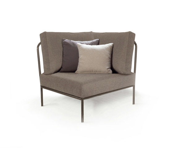 Nido Corner module Batyline Senso by Expormim | Garden armchairs